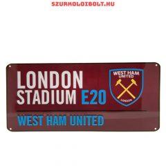 West Ham United Metal Street Sign