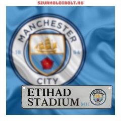 Manchester City FC Football Club Crest Metal Window Sign