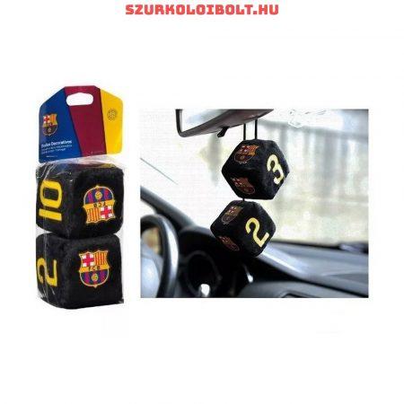 FC Barcelona fluffy car dice