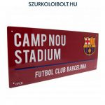 FC Barcelona Metal Street Sign